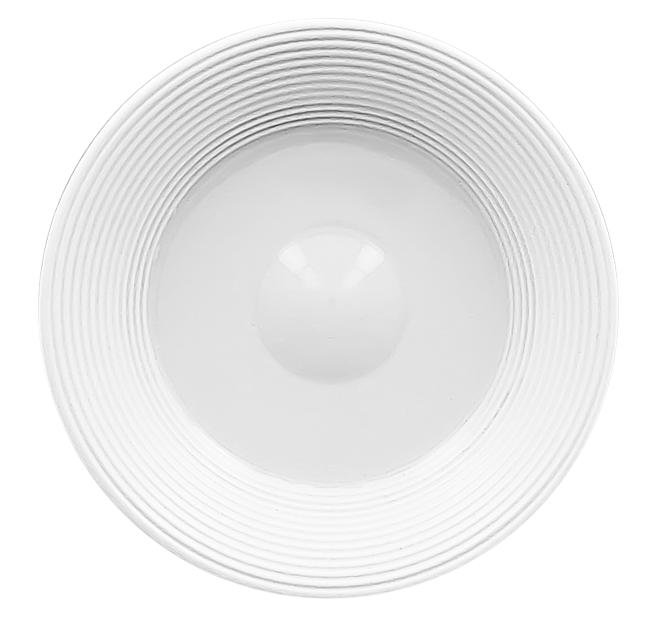 Тарелка квадратная глубокая 24 см фарфор rak серия ska